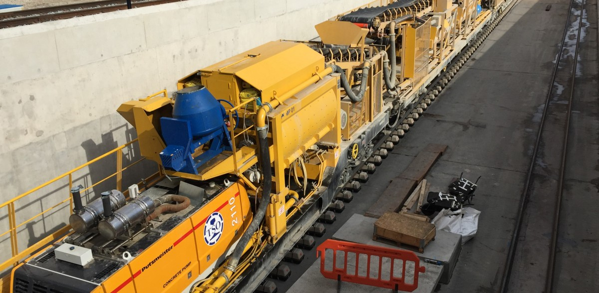 Crossrail concrete train
