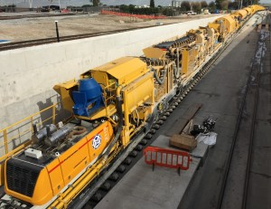 Crossrail concrete train