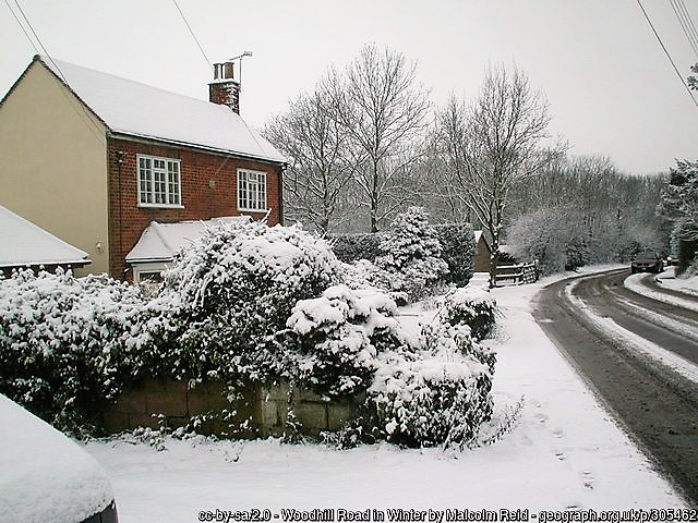 Essex roads in snow